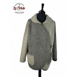 Veste croisée marron naturel