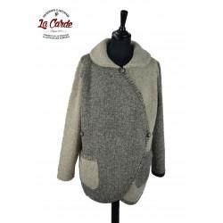 Veste croisée en laine