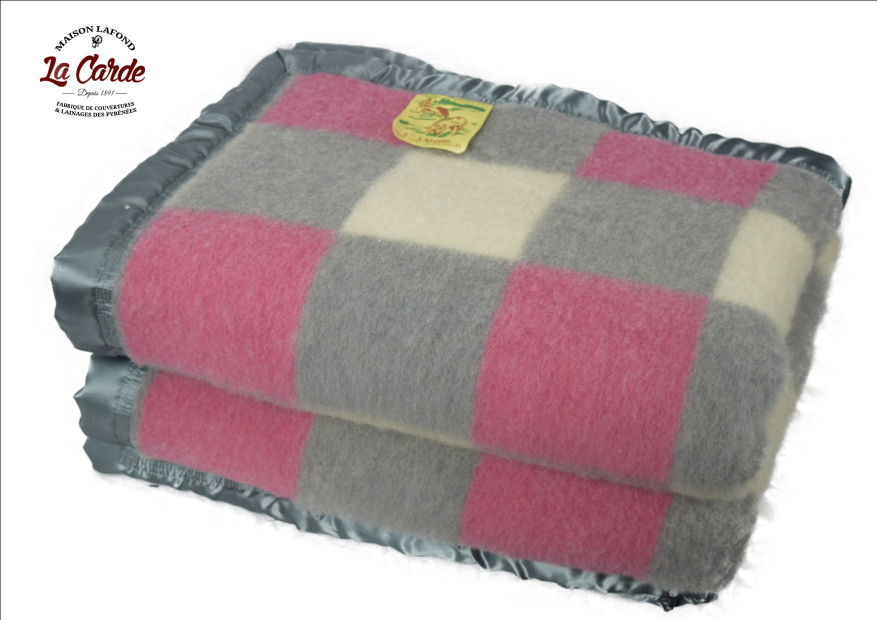 Couverture gris rose