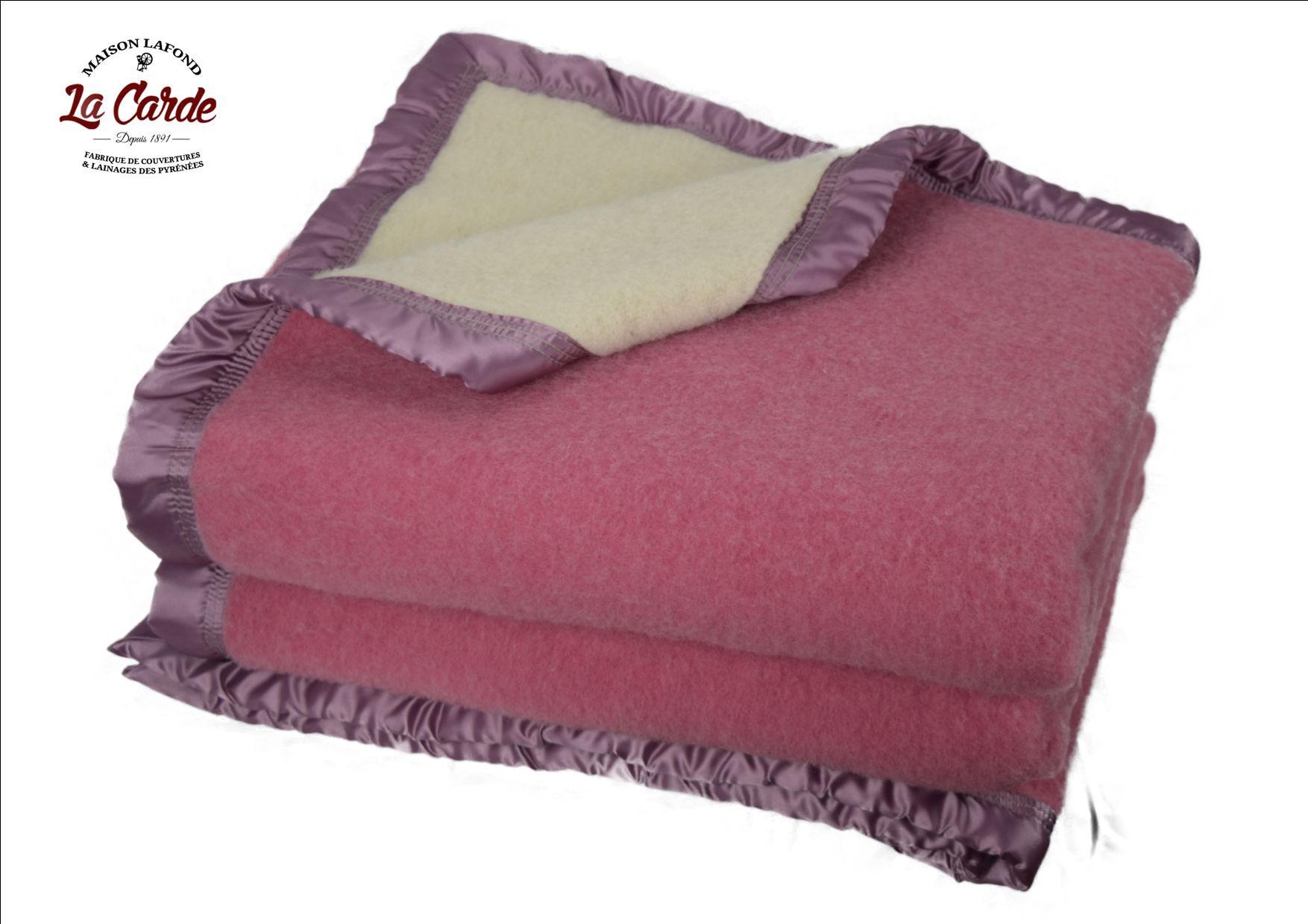 Couverture en laine - Couleur rose